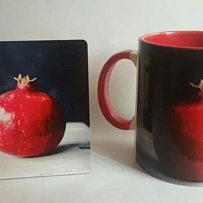 چاپ لیوان و زیر لیوانی با طرح دلخواه شم