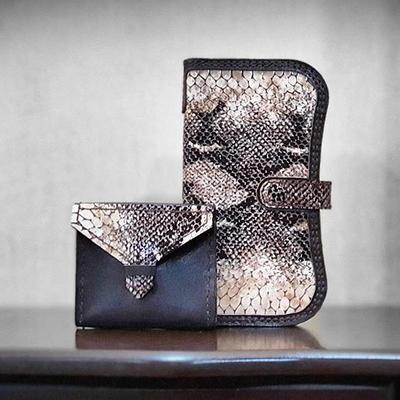 ست کیف پول جاکارتی زنانه چرم