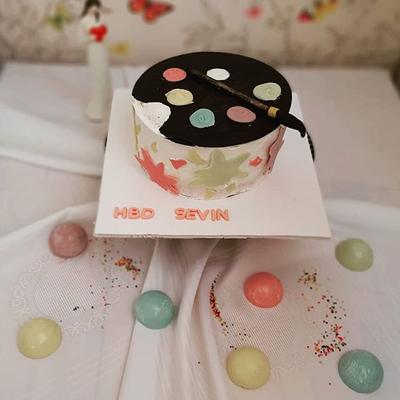 کیک پالت نقاشی