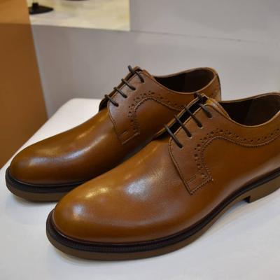 کفش بندی مردانه ساده رنگ عسلی خوش رنگ