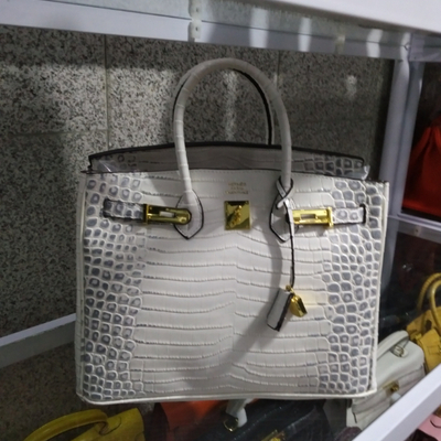کیف هرمس سنگی سفید مشکی