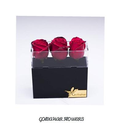 باکس گل پلکسی سه شاخه