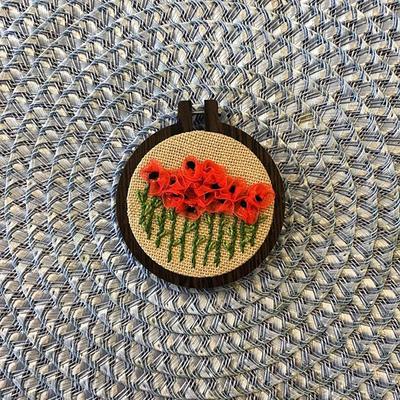 تابلو روباندوزی گل سرخ