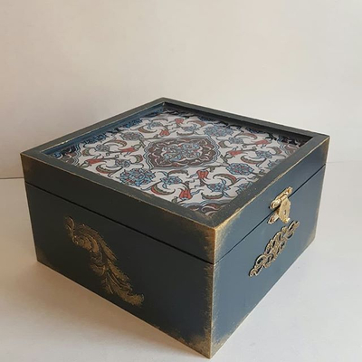 جعبه چوبی سفارشی با طرح و رنگ دلخواه