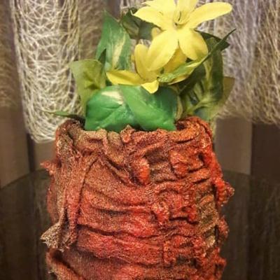 گلدان گل یخ