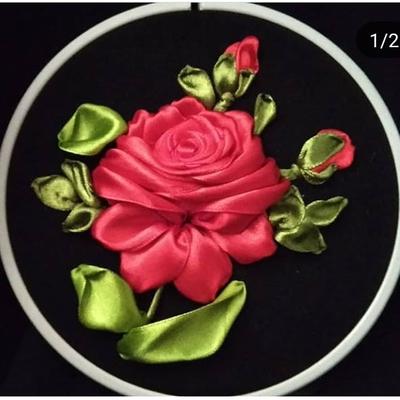 تابلوی روباندوزی گل رز