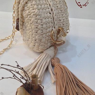 کیف تریکو گرد زیبا و شیک