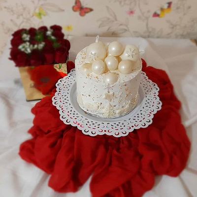 کیک خامه ای زمستانی