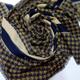 روسری بزرگ خردلی آبی نفتی