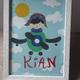 تابلو اتاق کودک به اسم کیان