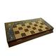 تخته شطرنج چوبی 2 رو طرح کتیبه تمام خاتم