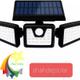 چراغ خورشیدی دیوارکوب سه سر