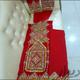 لباس قرمز بلوچی ابریشم
