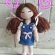 عروسک پارچه ای 20 سانتی
