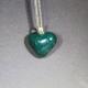 مدال عقیق سبز خزه ای قلبی