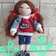 عروسک 20 سانتی پارچه ای