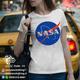 تیشرت سفید طرح ناسا