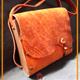 کیف دوشی طبله چوبی چرم طبیعی