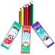 مداد رنگی 6 رنگ مقوایی