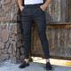 شلوار کتان مردانه کمر پهن ذغالی ـ کد ۲