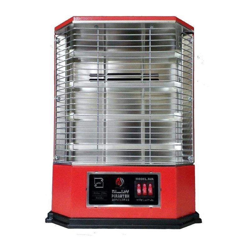 بخاری برقی فن دار4شعله پیراسته مدل آوا