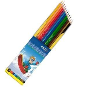 مداد رنگی 12 رنگ مقوایی