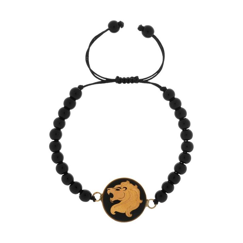 دستبند ورق طلا 24 عیار اونیکس ماه مرداد