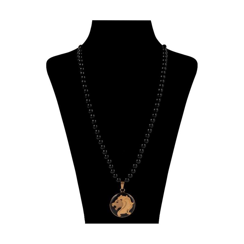 گردنبند ورق طلا 24 عیار اونیکس ماه مرداد