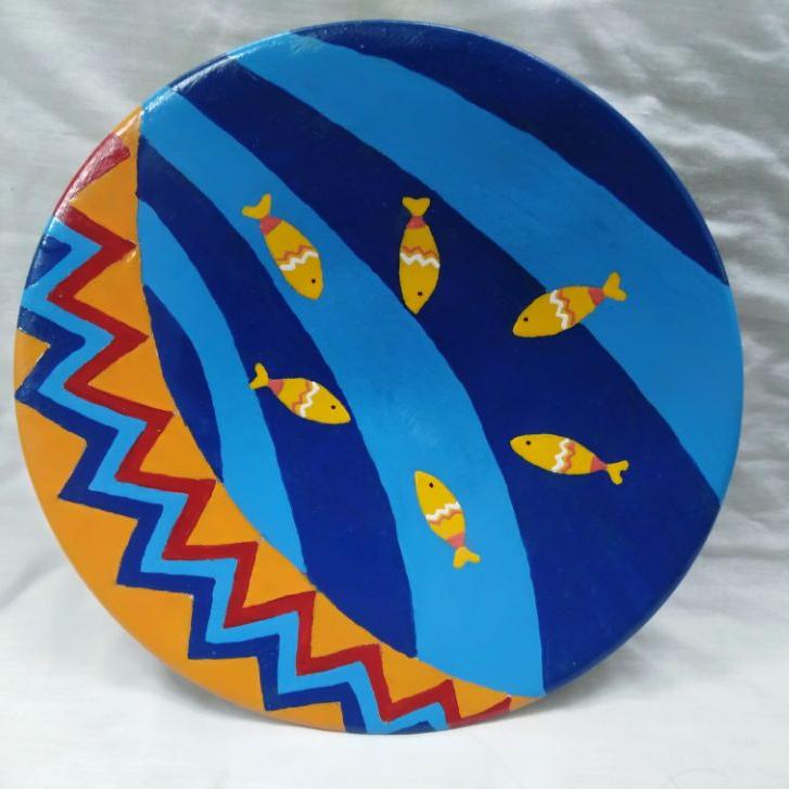 بشقاب دیوارکوب حوض ماهی