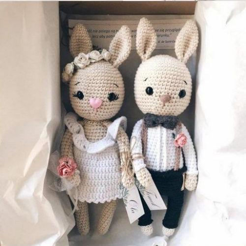 خرگوش های عروس داماد