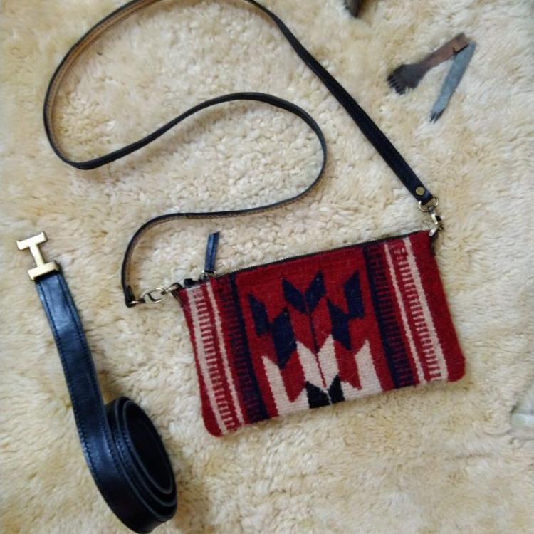 کیف دوشی سنتی چرم آدلیا