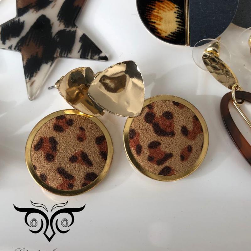 گوشواره پلنگی طلایی