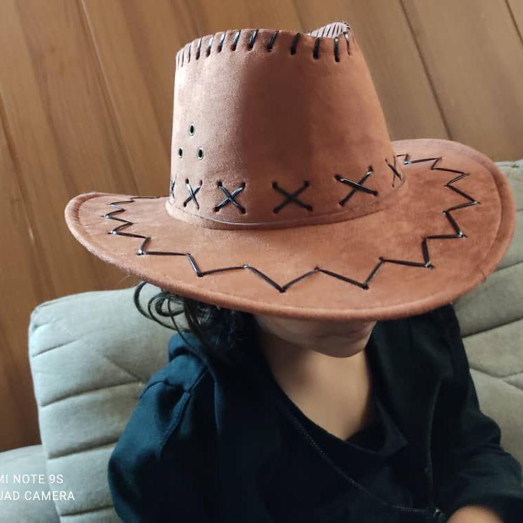 کلاه کابوی کودکانه سزار رنگ قهوه ای