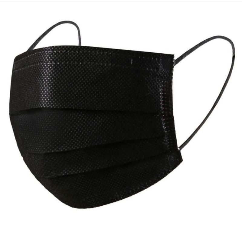 ماسک مشکی سه لایه ملت بلون دار مناسب icu