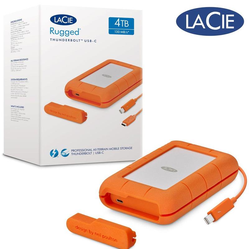 Lacie Rugged Thunderbolt USB C 4TB