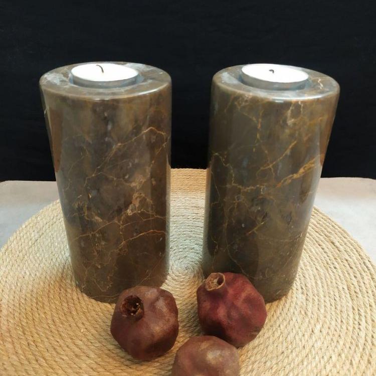 شمعدان سنگی پایه بلند
