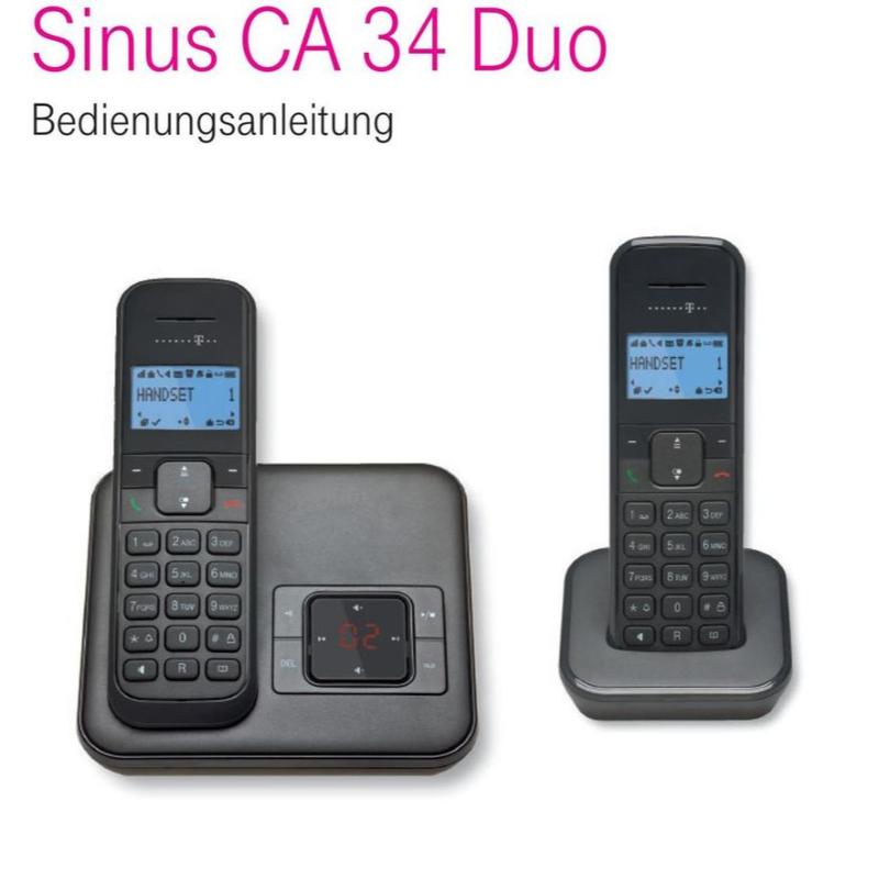 تلفن بیسیم آلمانی Telekom Sinus CA 34 Deutsche