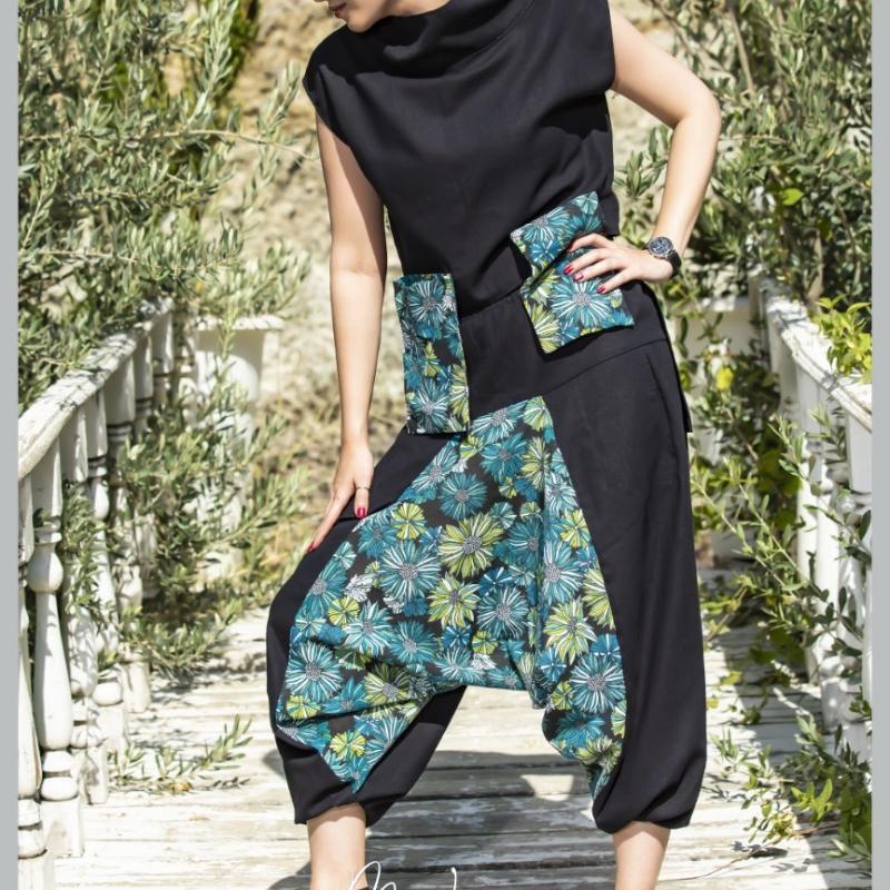 بلوز و شلوار خاص مدل جیبی گلی