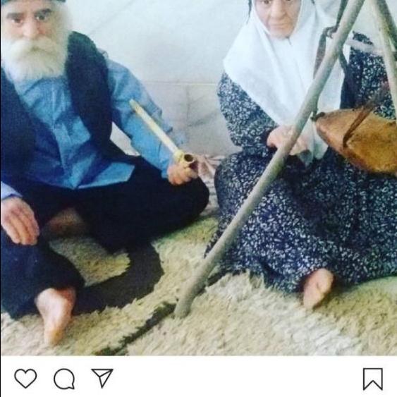 پیر مرد و پیر زن نشسته