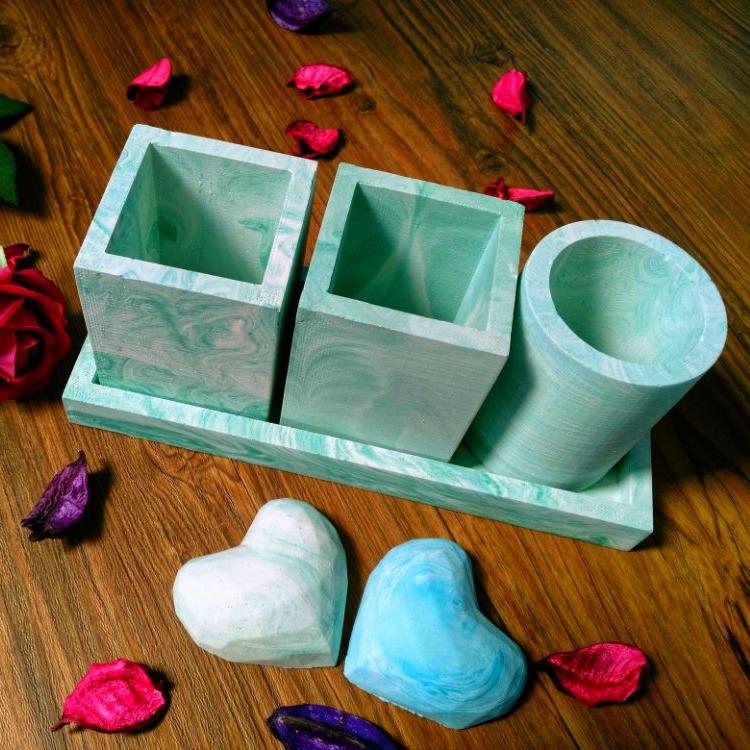 ست گلدان و سینی